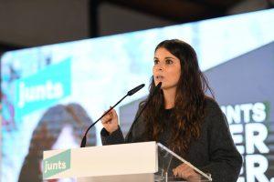 Mònica Sales en un acte de campanya. FOTO: Twitter JuntsxEbre, @mncsls